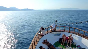 Griechenland Korfu Ausflug BBQ Boat Trip