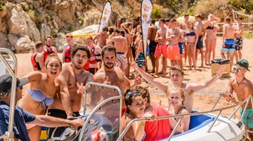 Spanien Calella Ausflug Beach-Party