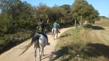 Spanien Calella Ausflug Reiten