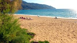 Griechenland Korfu Ausflug Glyfada Beach