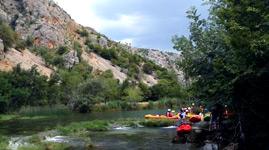 Kroatien Novalja Ausflug Kanu Safari
