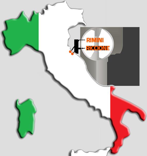 Italien Karte mit den Ziel Destinations für die FUN Jugendreisen